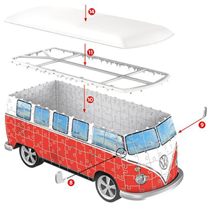 Ravensburger 3D Puzzle Volkswagen l'instruction